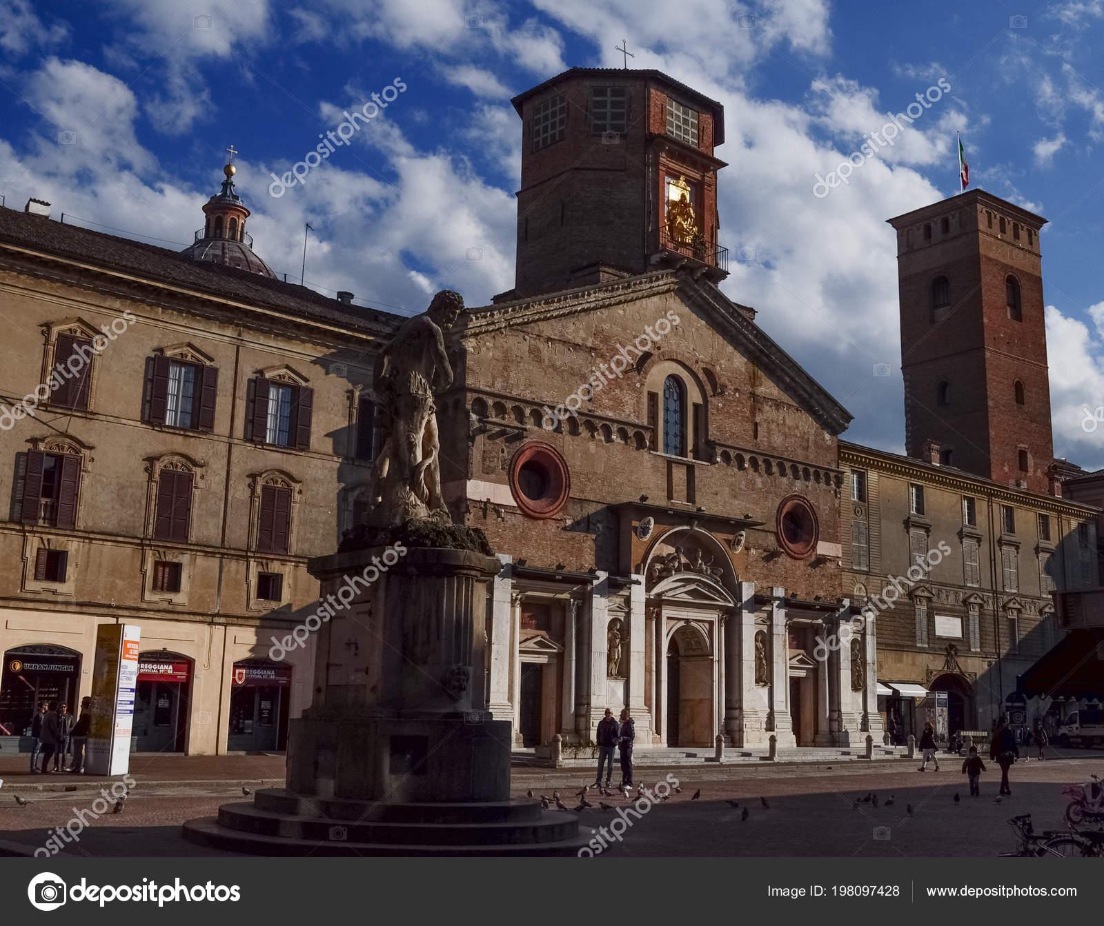 Reggio Emilia Itálie Cca Březen 2018 Turisté Navštívit Centrum Města