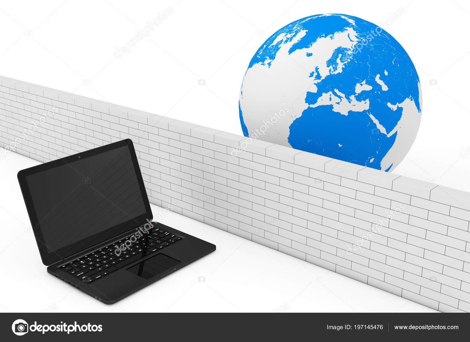 ファイアウォールの概念 白い背景にグローバルなネットワークに