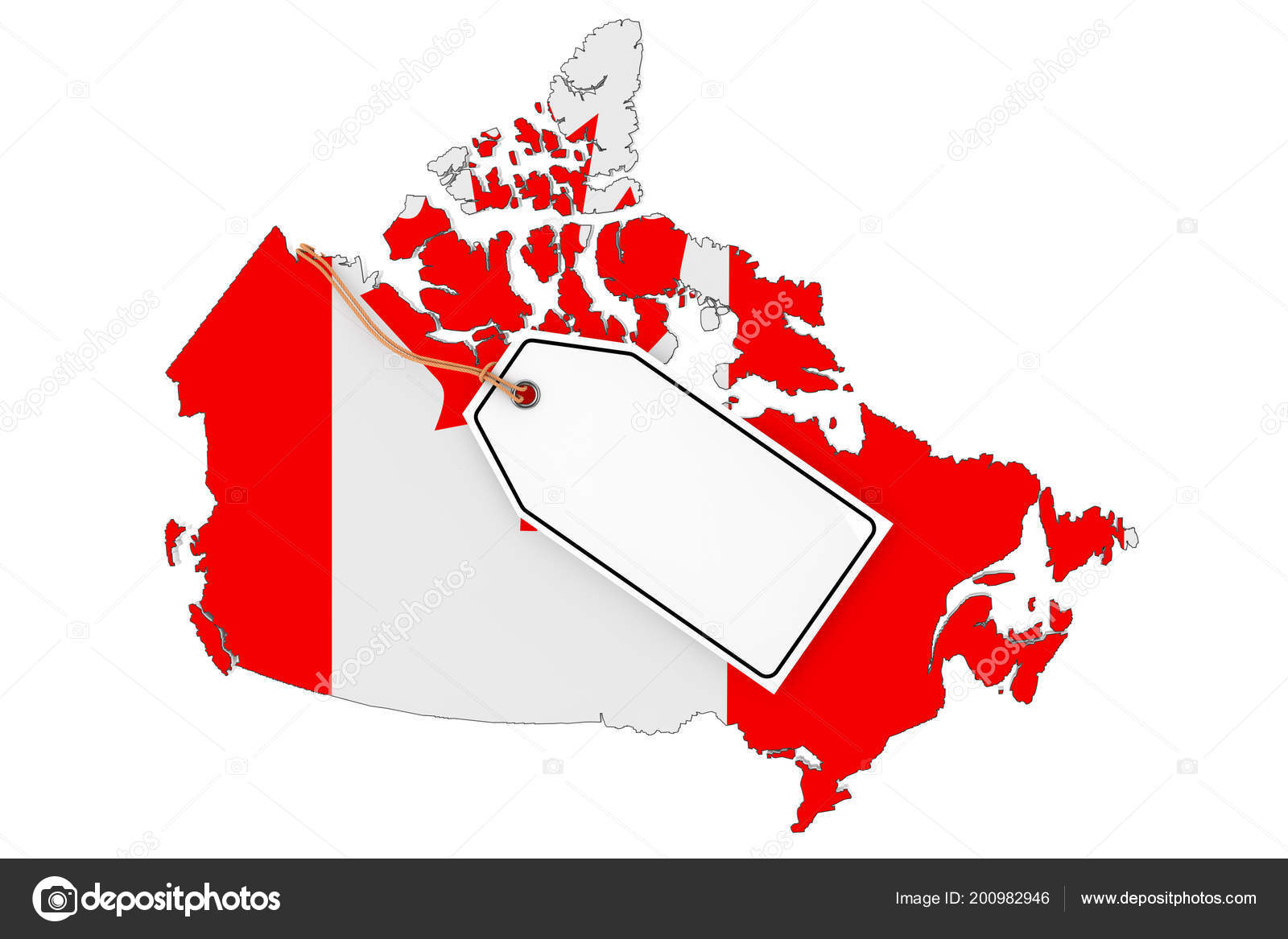 picture relating to Printable Canadian Flag referred to as Canadian flag printable Map Canada Flag Blank Sale Tag