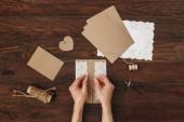 Fényképek Hogyan készítsünk karton. kézműves termékek és szerszámok részére kézműves pályázati kosár. DIY concept, modell akár üdvözlőlap