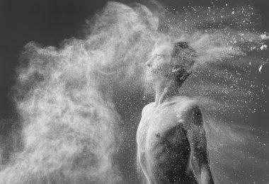 ballet dancer portrait of flour monochrome