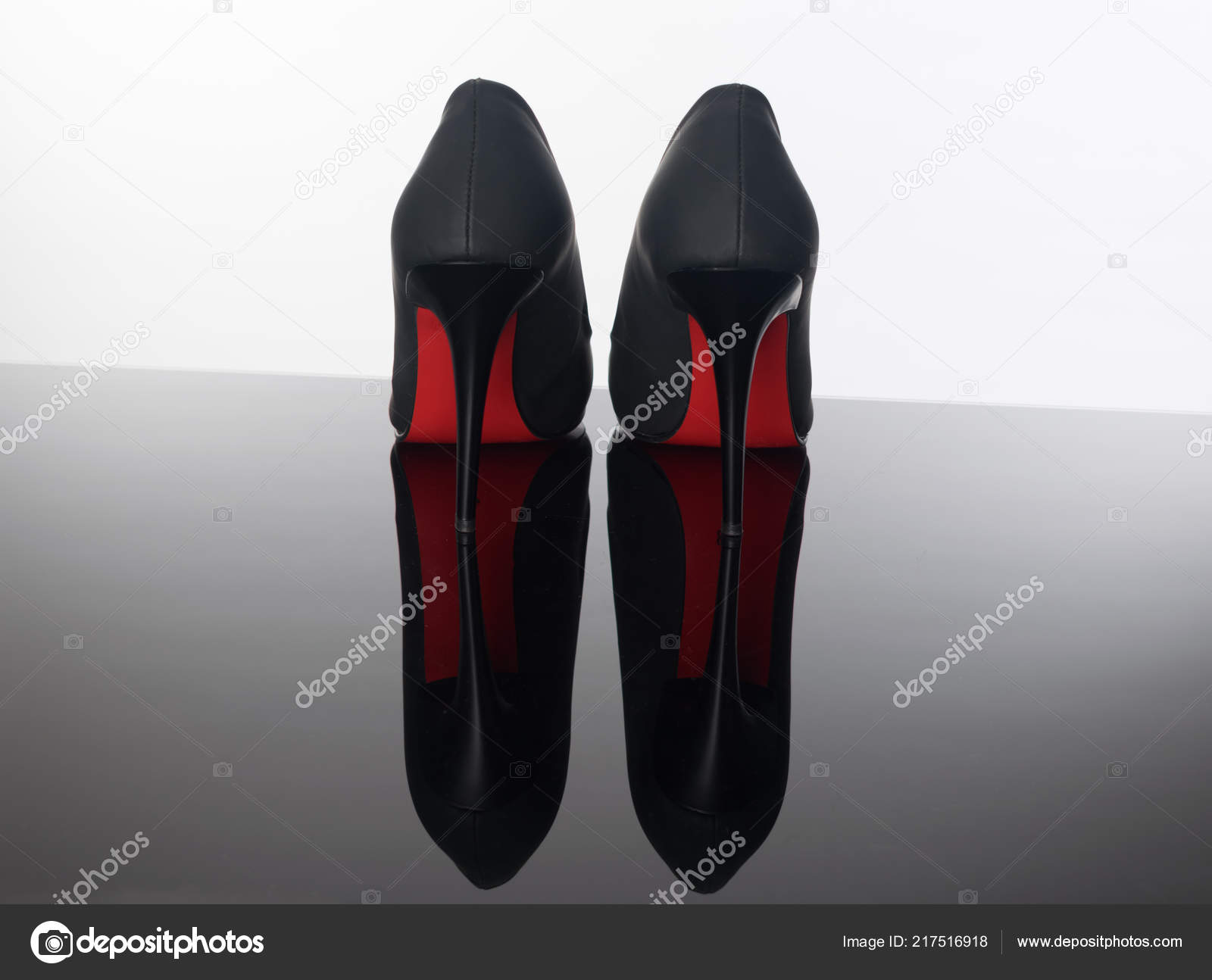 best authentic 7935c a0d49 Pair Pointed Woman Shoes Black Soles Red High Heels ...