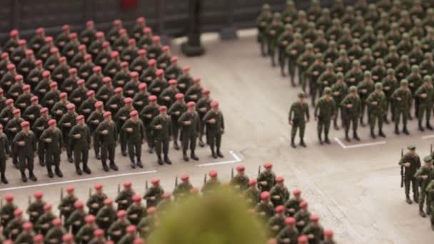 Bau von Soldaten am Paradeplatz