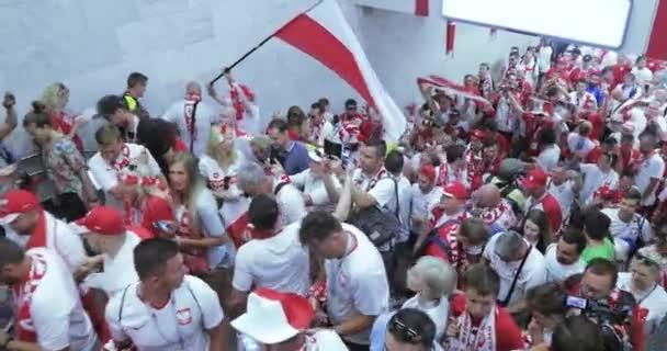 Football fans of Poland Metro