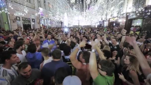 Football fans on Nikolskaya