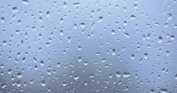 Regentropfen auf das Glas