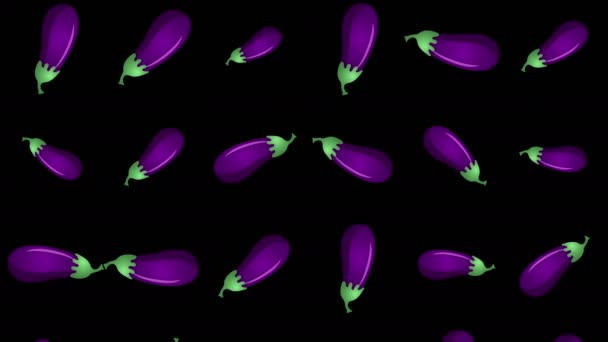 Background with falling eggplants