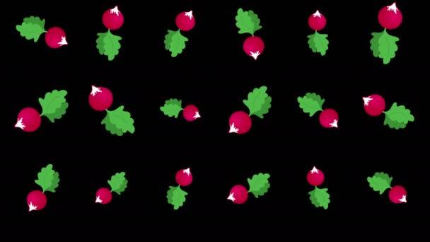 Background with falling radish
