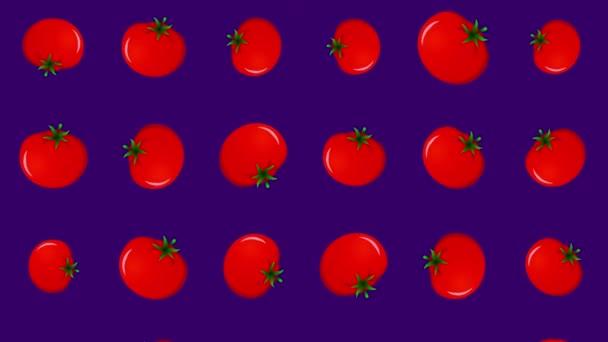 Pozadí s padajícími rajčaty