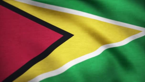 Guyanai integetett a szél zászlaja. Háttérben a hullámzó zászlót