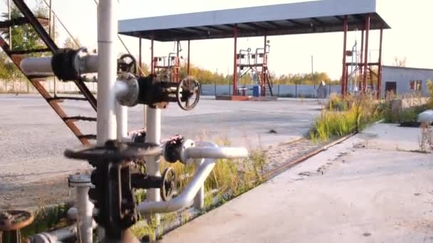 fuel tanks on a prairie farm yard stock old tank farm fuel industry