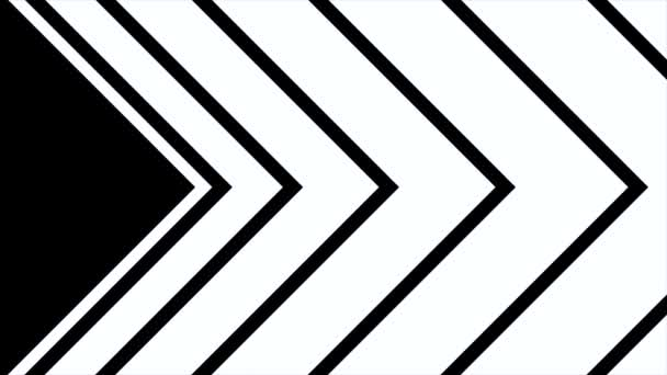 formation of arrow dynamic black and white transition animation