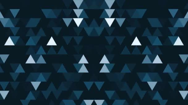 Abstraktní pozadí 8-bit minimalismus trojúhelníků. Abstraktní geometrické tvary, abstraktní pozadí z geometrických tvarů v bezešvé smyčka