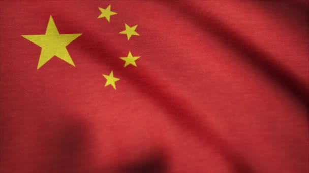 Flying Flag of China. China flag waving