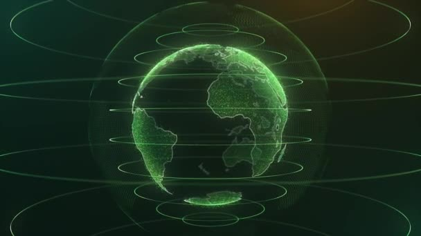 Animation globe with dot world map hud and infographic graph bar animation globe with dot world map hud and infographic graph bar element spin on dark background animation of abstract data with globe of earth in digital gumiabroncs Choice Image