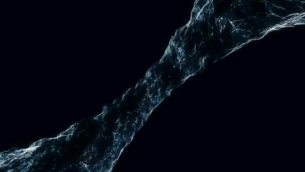 Toku kapaliny jako je voda se točí do vířivky nebo tornádo. Proudění tekutiny otáčí a tvoří vír. Vodní vír proudící na tmavém pozadí. Vodní kruh kapalina opakování na černém pozadí