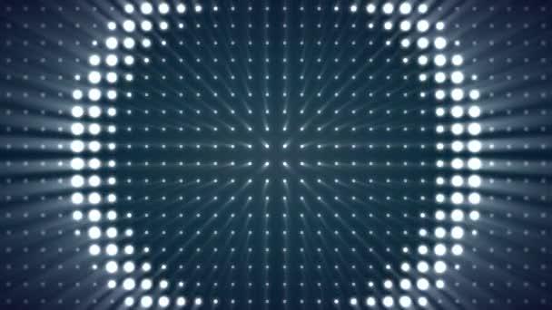 Könnyű varratmentes háttérben. Kör izzó fények szoba animációs háttér. Világos fényvetők bekapcsolása és kikapcsolása
