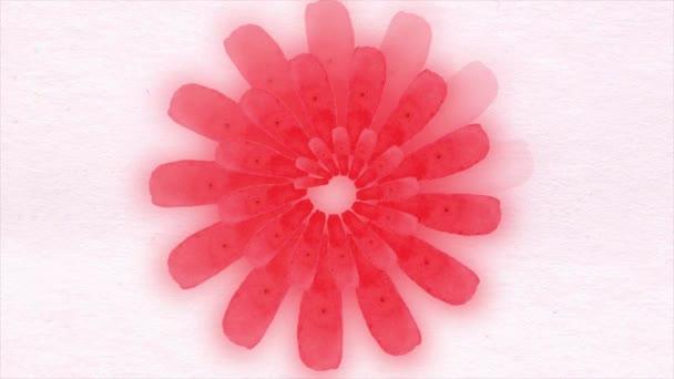 Abstraktní barvy pozadí květin. Abstraktní květy animace