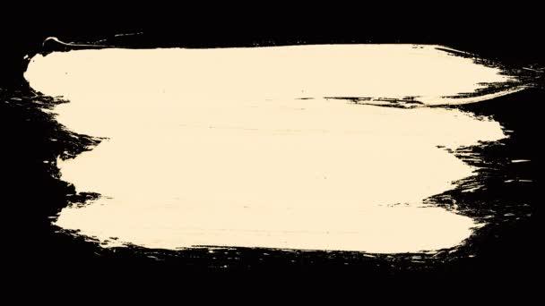 weiß lackierte Pinselstriche auf schwarzem Hintergrund. Satz schwarzer Farbstriche isoliert auf weißem Hintergrund. Pinsel lackierte schwarze Tinte Linie und Tropfen auf weißem Hintergrund