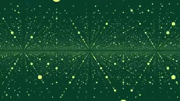 Krásné geometrické pozadí abstraktní s pohybující se tečky. Plexus fantasy abstraktní technologie. Abstraktní animace s body