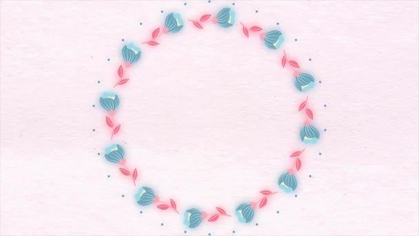 Na pozadí malovaný květin v animaci. Krásné květinové pozadí s místem pro text