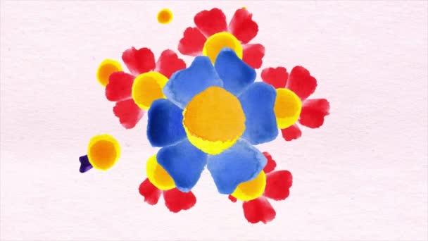 Akvarelu vzor květina listy na bílém pozadí. pěstování květin, ruměnec růžové pozadí, papírové květiny, kvetoucí botanické vzor, kulatý květinový buket. Květiny kvetoucí izolované na bílém