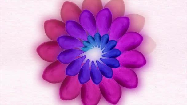 Akvarell minta virág levelek, a fehér háttér. virágok, elpirulás rózsaszín háttér, papír virágok, virágzó botanikai minta, kerek csokor virág nő. Virágzó elszigetelt, a fehér virágok