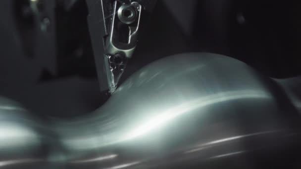 Metalworking CNC milling machine. Cutting metal modern processing technology. Metal precision machining machine