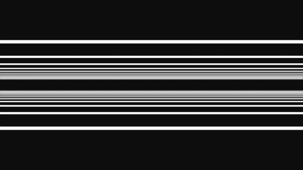 Nekonečná průlet rovné pruhy na černém pozadí. Čáry na pozadí. Flying prostřednictvím vesmíru z barevné blikající a blikající pruhy.