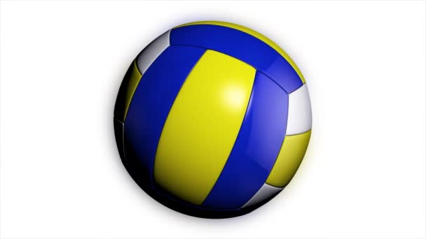 A loop animation of a volleyball ball spinning a white background. Animation of a volleyball ball
