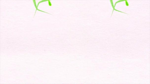 Akvarelu vzor na bílém podkladu. Květiny. Akvarelu vzor květina listy na bílém pozadí. Alfa kanál v ceně