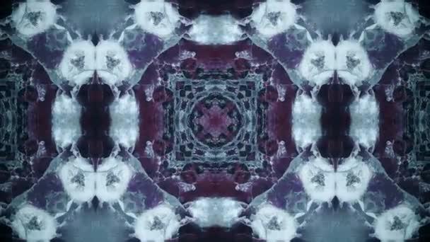Kék kaleidoszkóp sorozat minták. Absztrakt tarka jelet ad grafikus háttér. Varrat nélküli hurok