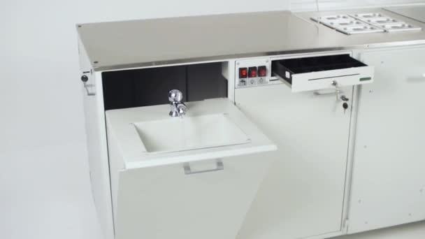 Modern Kitchen Interior With Electric Clip Futuristic Kitchen Set