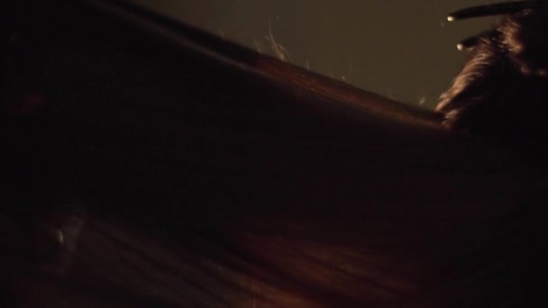 Vértes fodrász hullámzást ügyfelek haj szalon. Keret. Fodrász teszi egy elegáns frizura, egy nő
