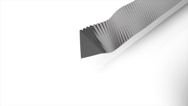 Abstraktní šedé geometrické tvary na bílém pozadí. Abstraktní bílé pozadí náhodným pohybem, 3d animace Loopable