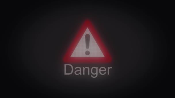 Animation of Danger sign triangle. Warning danger. Danger triangle sign