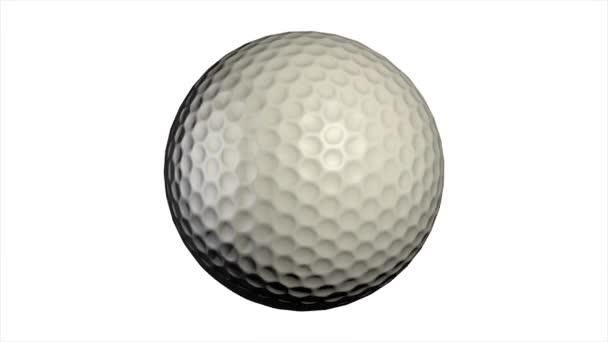 Golfový míček s dějem, samostatný. Golf, míček.