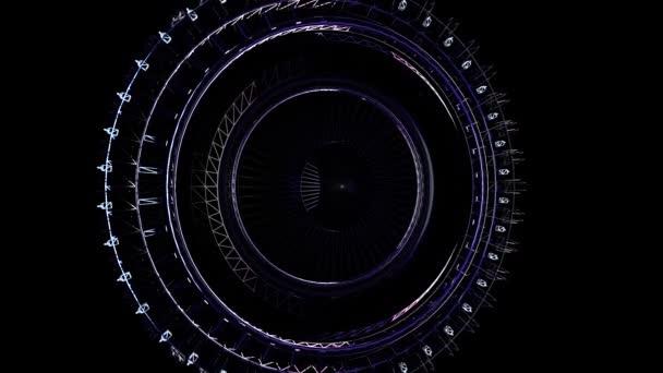 Abstraktní kruhovém pozadí smyčky z oceli a lehký pohyb grafiky. Animace rotace radiální oceli. Abstraktní pozadí kovu. Kovová kroužková zbroj abstraktní geometrické trojúhelníkové pozadí
