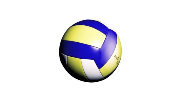 Volejbalový míč. Tmavě modré, žluté míč Volley-ball. Kožené volejbal.