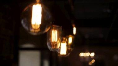 Dekoracyjne świecące żarówki Lampy Wiszące Na Mur Z Cegły
