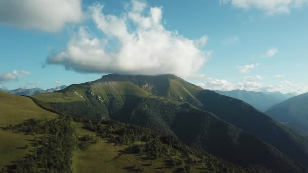 Panorama of the Crimean mountains. Beautiful mountains with forests aerial view