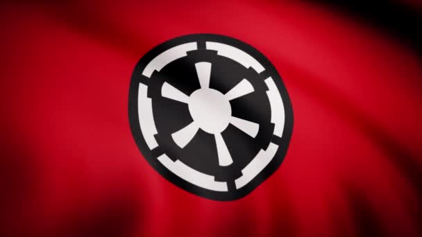 The animation of the flag of the Galactic Empire. The star Wars theme. Editorial only use
