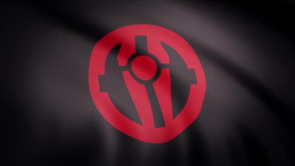 The animation of the flag of the Mandalorian symbol. The star Wars theme. Editorial only use