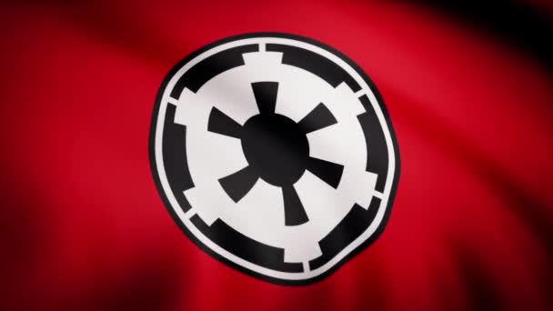 The animation of the flag of the New Galactic Empire. The star Wars theme. Editorial only use