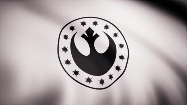 Star Wars New Republic Symbol on flag. The Star Wars theme. Editorial only use