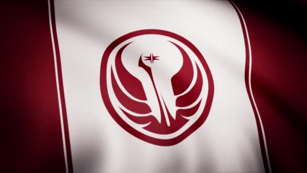 Star Wars Old Republic Symbol on flag. The Star Wars theme. Editorial only use