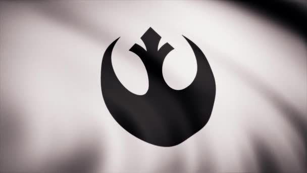 Star Wars Rebel Alliance Symbol on flag. The Star Wars theme. Editorial only use