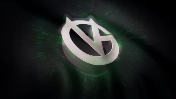Mávání vlajkou symbol animace profesionální eSports tým Vici hraní. Prvotřídní cyber sportovního týmu. Pouze pro redakční použití