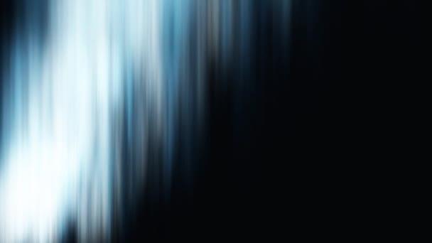 Abstraktní polární záře v barvách modré a bílé na černém pozadí. Animace krásná polární záře efekt s zelená světla na černém pozadí.