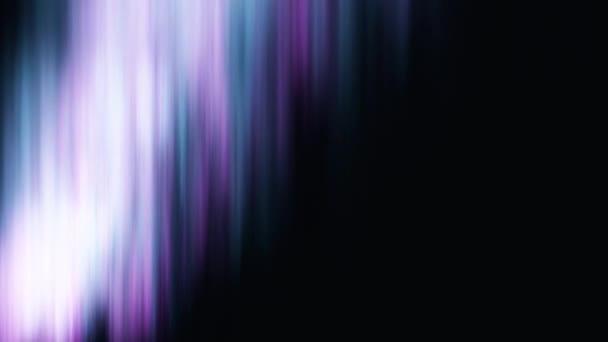 Animáció a északi fények a fekete háttér. Tér és aurora borealis.